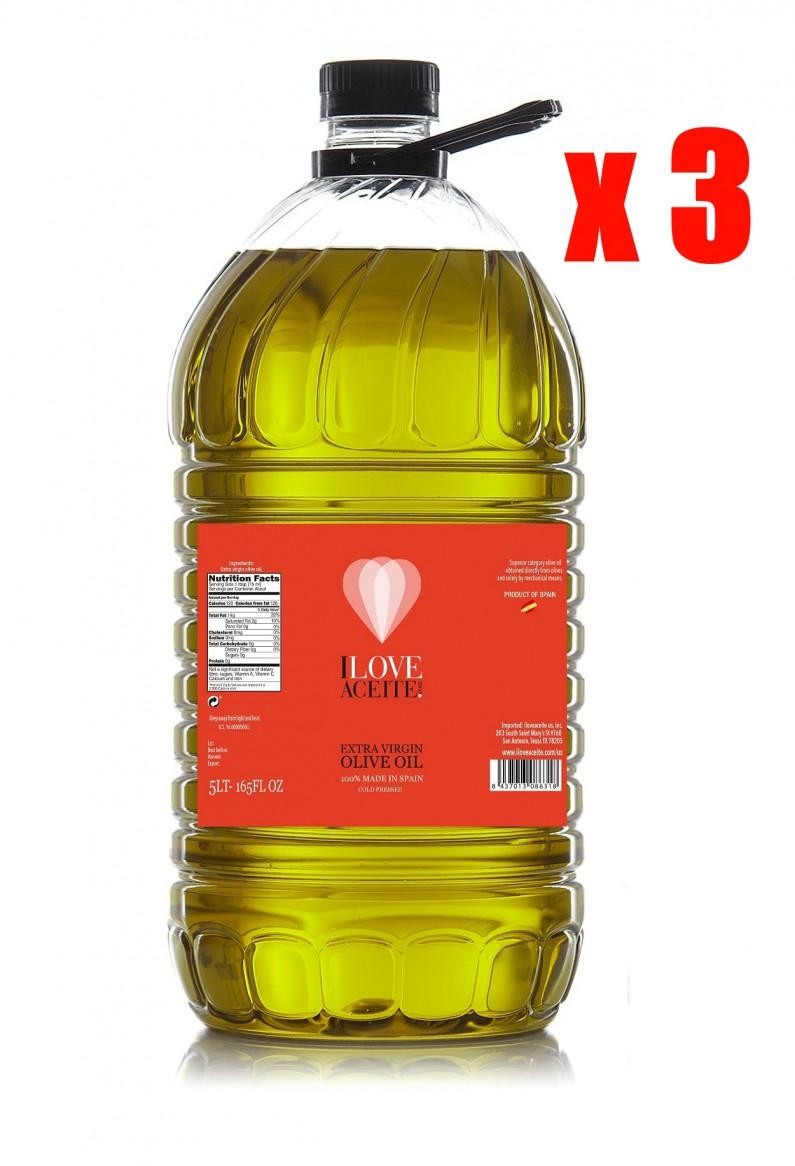 ILOVEACEITE RED LABEL (CASE 3 BOTTLES) 5 L ! 1.33 gal | PET
