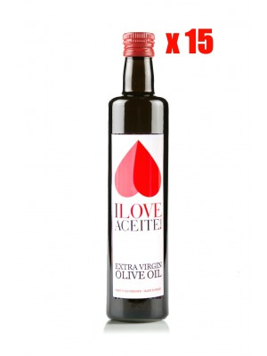 ILOVEACEITE WHITE LABEL 500 ML ! 16.9 fl oz GLASS | (CASE 15 UNITS)