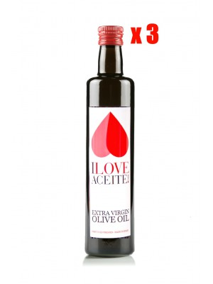 ILOVEACEITE WHITE LABEL 500 ML ! 16.9 fl oz GLASS | (CASE 3 UNITS)